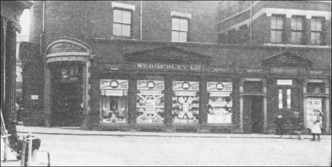 The bookshop and printing works of Webberly Ltd (1914 onwards)
