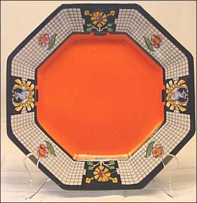 This art deco plate made in Burslem, England by Thos. Till and Sons.