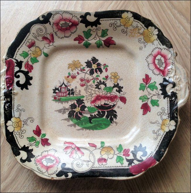 J & W Pratt hand decorated plate