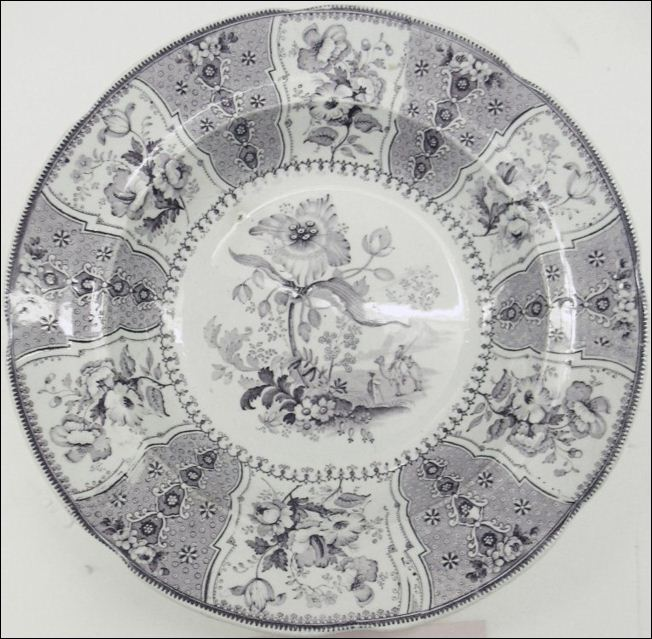 a plate by Jacob Baggaley with the Eastern Plants pattern