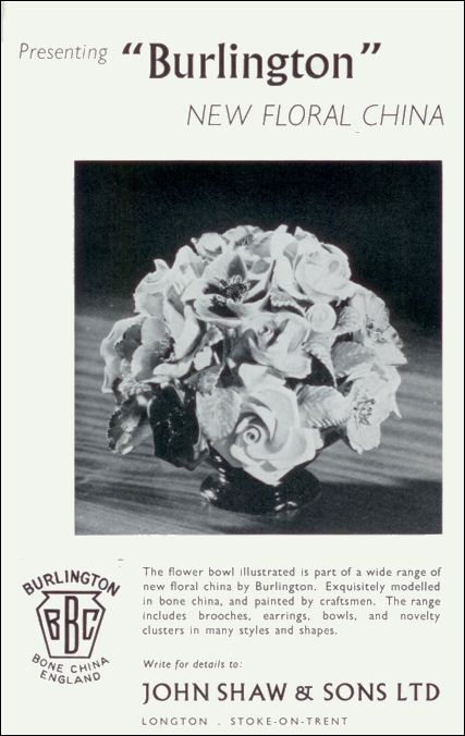 advert for Burlington Floral China