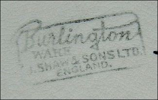 Burlington Ware - J Shaw & Sons Ltd. England