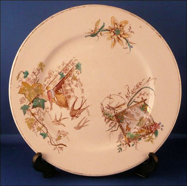 plate by J H Davis in the Sylvan pattern