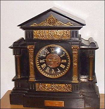 presentation clock - still in the possesion (2001) of the Finney family