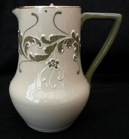 Jug with tube-lined decoration - the style is Gesso Faience
