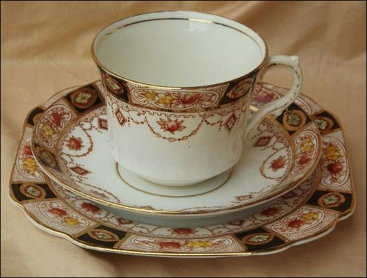 Mayer & Sherratt china trio of cup, saucer & side plate