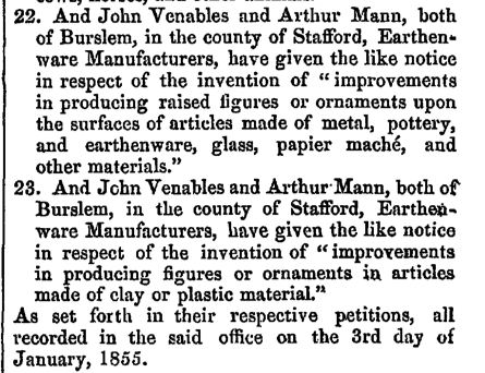 Notice of patents by Venables & Mann