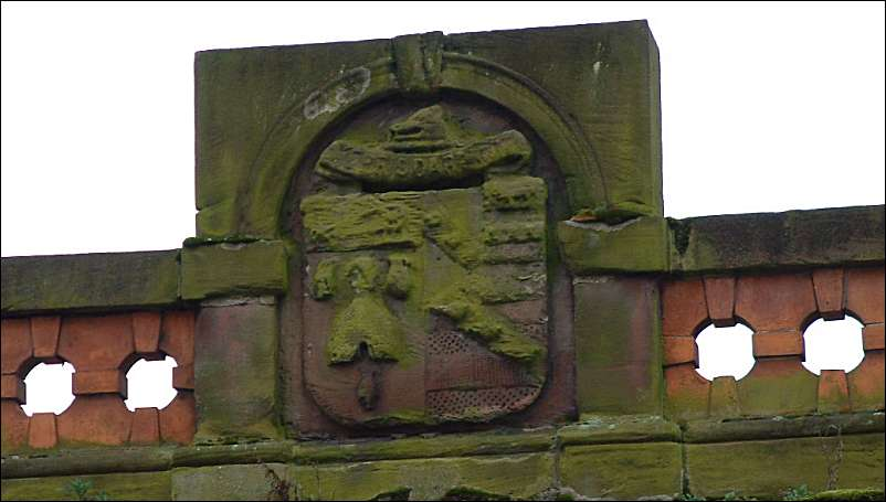 although very weathered the arms can be seen to be those of the borough of Stoke-upon-Trent