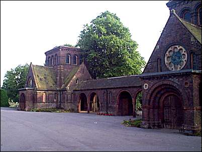 The two chapels, Nonconformist on the left and CofE on the right