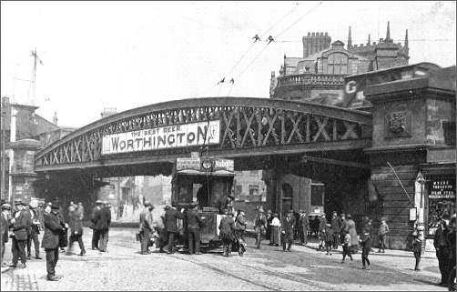 A postcard of Longton railway bridge
