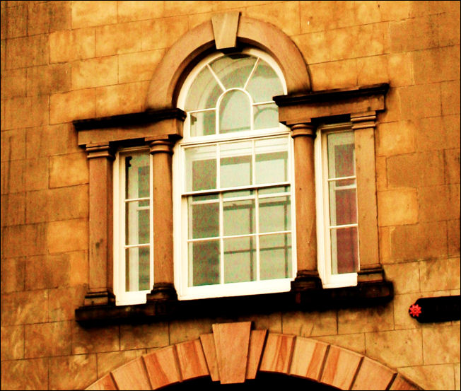 detail of the Venetian Window at Enoch Woods Works