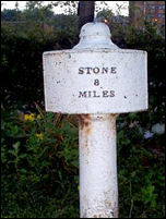 Milepost on London Road