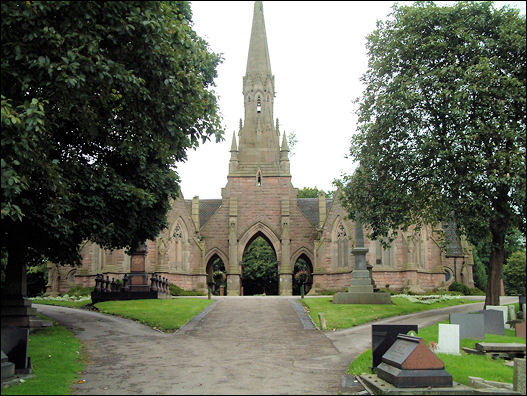 The chapels at Hanley cemetery