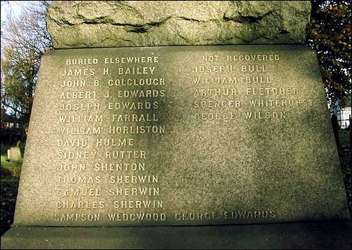 the names of those buried in other burial grounds