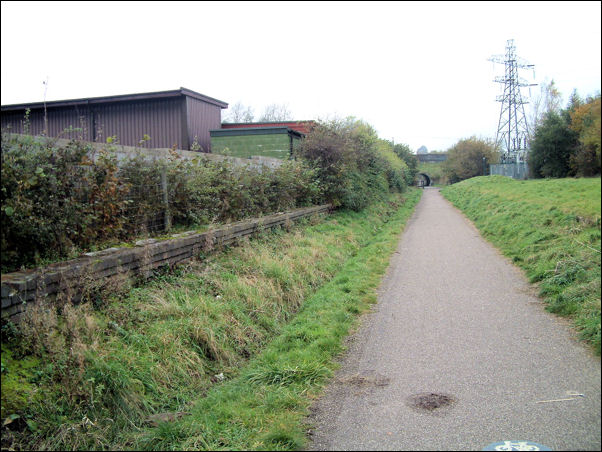 Looking back along the route of the loop line towards Kidsgrove