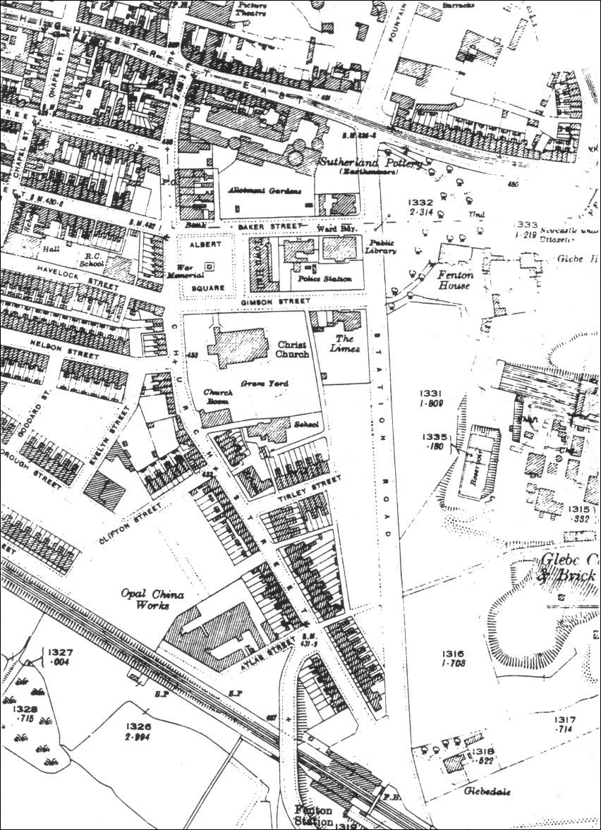 The 1924 ordnance Survey map shows the current church - built in 1890, to seat 1,900 people. It was designed by Charles Lynam