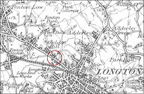 1895 map showing location of Foley