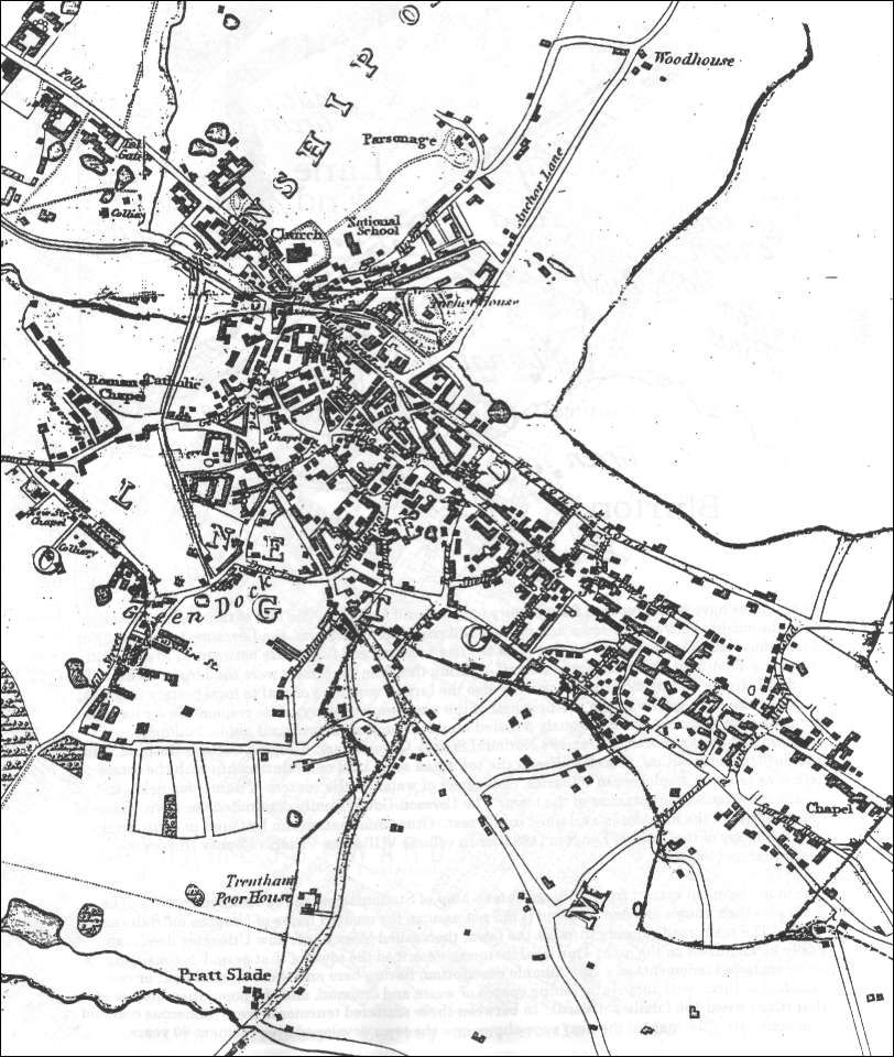 Thomas Hargreaves map - Lane End and Longton in 1832