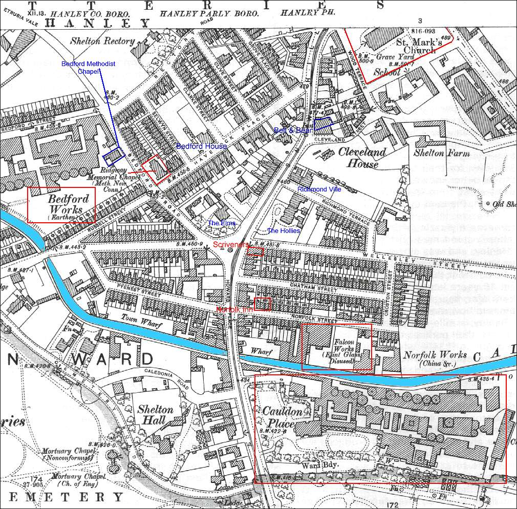 1898 OS Map of the Howard Place and Cauldon Place area