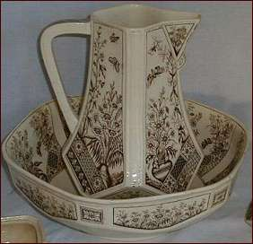 Jug and basin in the TOKAR pattern