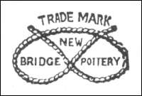 Staffordshire knot mark of New Bridge Pottery