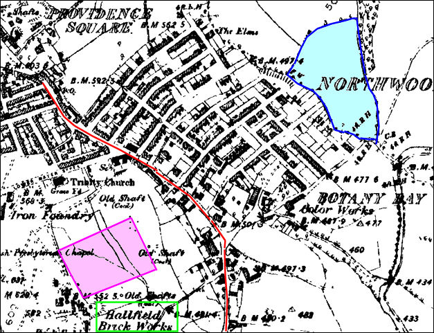 map c.1890 of the Northwood area