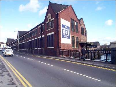 Lichfield Street with the Eastwood Pottery (now Bridgewater Pottery factory)