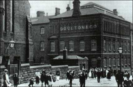 Workers outside the Doulton factory at the turn of the century (1900's)