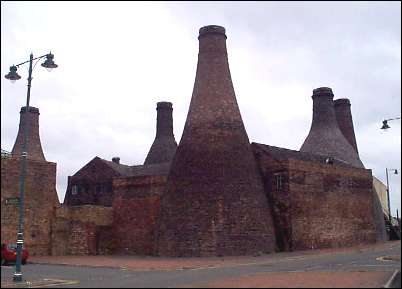 Gladstone Pottery from the rear