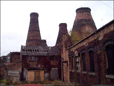 Bottle Kilns at Enson Pottery