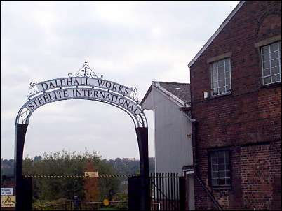 Dalehall Works entrance of Steelite International  in Yale Street, Middleport, Burslem.