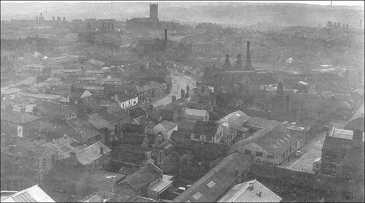 Broad Street, Hanley, from Ashworth's chimney (late 1960's)