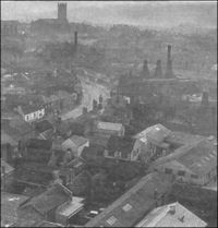 Collection of old black & white photos of Stoke-on-Trent Pall Mall Black