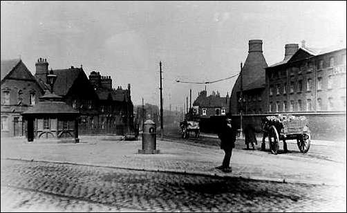 Victoria Square, Fenton - on the right is the works of Masons Ironstone China