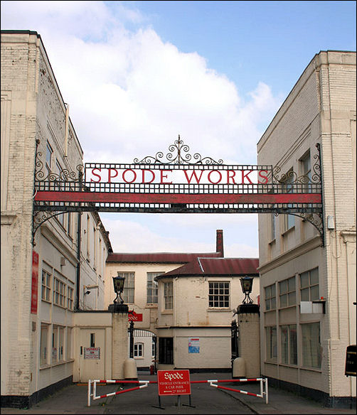 Entrance to Spode Pottery Works, Stoke