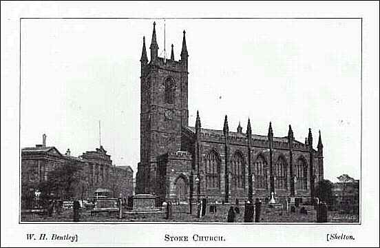 1893 view of St. Peters Church, Stoke