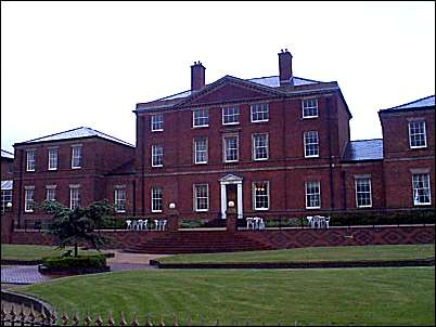 Front of Etruria Hall which looks towards Basford